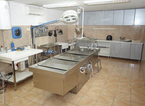 autopsy room medicine healthcare Canvas Print