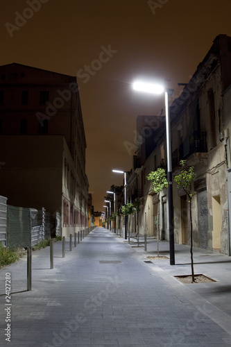 Fototapeta barcelona noc-ulica3