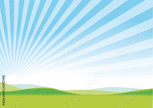 FOND ciel bleu rayonnant
