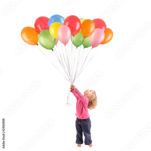 Photo  Girl with balloons