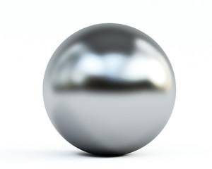 metallic ball on white