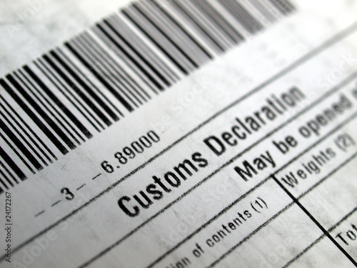 Fotografía  Customs declaration