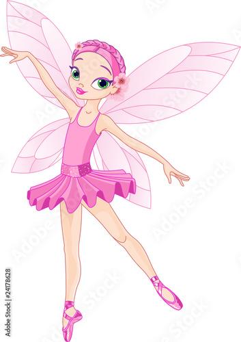La pose en embrasure Fées, elfes Cute pink fairy