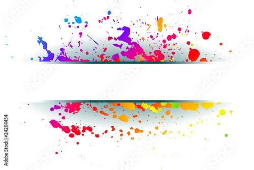 Foto op Canvas Bloemen vrouw Colorful grunge background.
