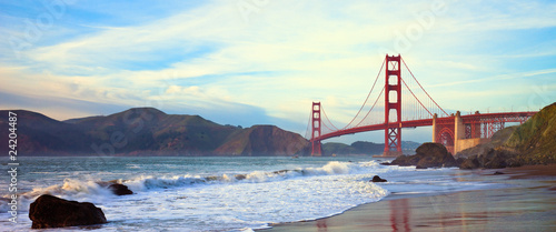 Golden Gate Bridge Panorama Wallpaper Mural