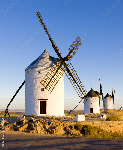 Fototapety, obrazy: windmills, Consuegra, Castile-La Mancha, Spain