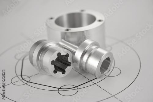 Fotografie, Obraz  CNC Wałek Frezowanie Toczenie Produkcja