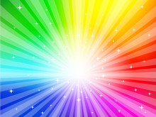 Multicolored Explosion Background