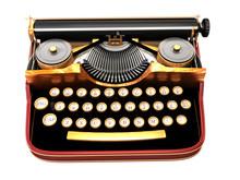 Antique Typewriter. Steam Punk Style