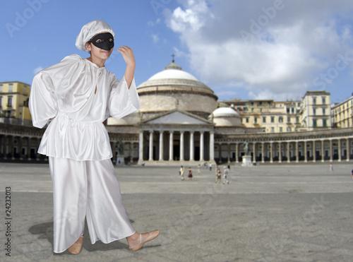 Valokuva  Pulcinella a piazza Plebiscito