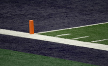 Blue End Zone And Orange Pylon