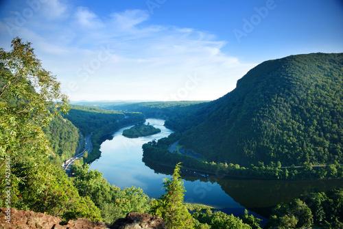 Carta da parati Mountain peak view