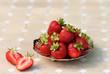 Erdbeeren in der Silberschale