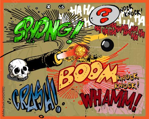 Printed kitchen splashbacks Comic book explosion