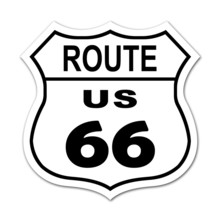Pegatina US ROUTE 66