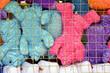 Plush dog toys as carnival prizes