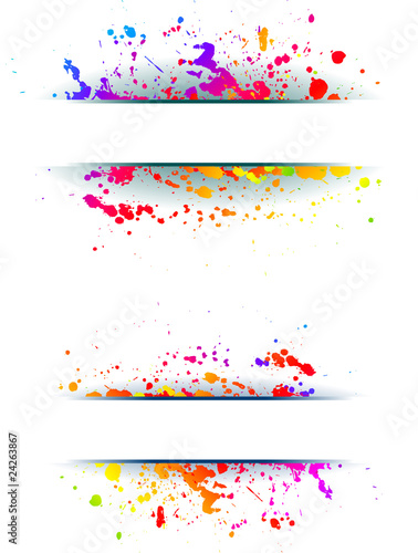 Foto op Canvas Bloemen vrouw Colorful grunge backgrounds.