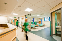 View Over A Modern Hospital Room