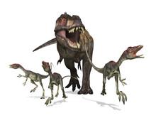 Tyrannosaurus Rex On The Hunt