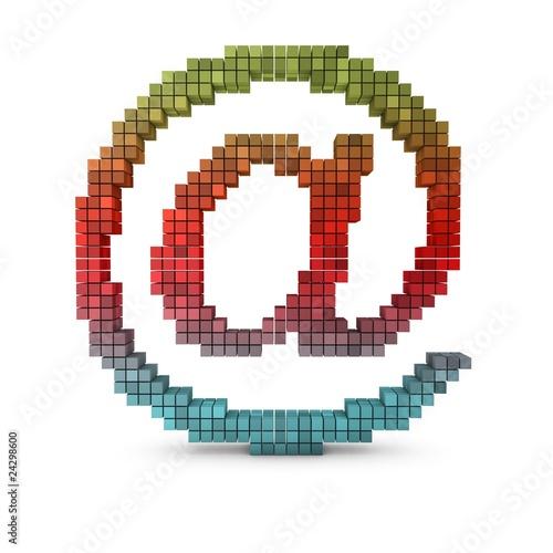 Foto op Aluminium Pixel 3d at email symbol gradient