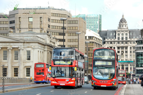 Poster de jardin Londres bus rouge London Busse