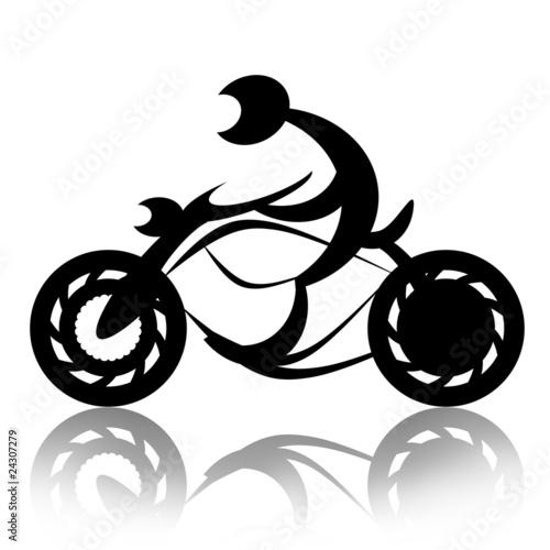 Fotografia, Obraz  Motorcyclist