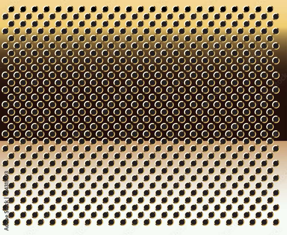 Fototapeta Gold grid background-vector.Gold texture.