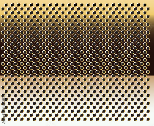 Obraz Gold grid background-vector.Gold texture. - fototapety do salonu