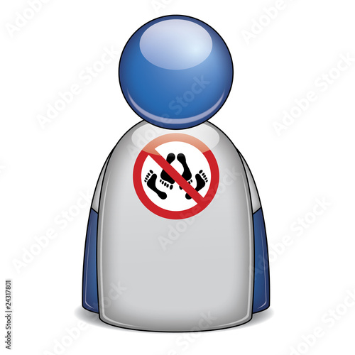 Fotografie, Obraz  Icono camiseta prohibido HACER EL AMOR
