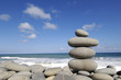 Stones on the tropical seashore