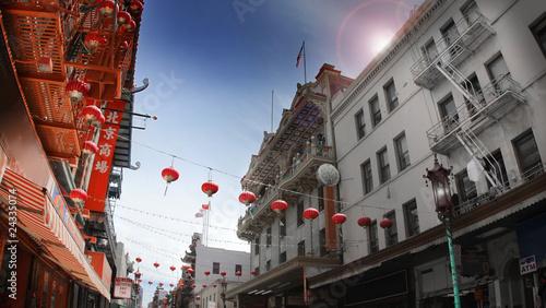 Fototapeta Dzielnica Chinatown o poranku ścienna