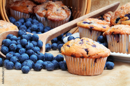 Photo  Blueberry Muffins