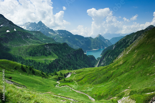 Canvas Prints Alps Lago di Luzzone