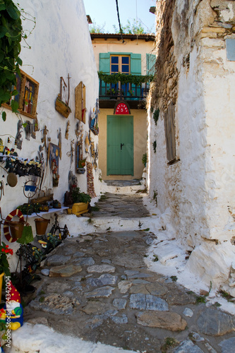 Wall Murals Narrow alley Alonissos Old Town