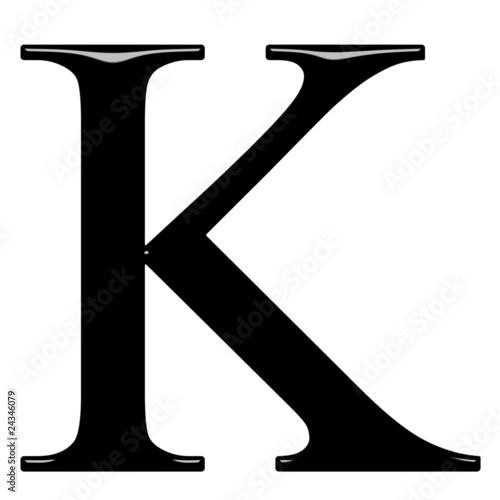 3D Greek Letter Kappa