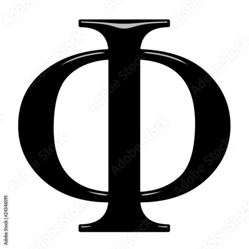 Photo 3D Greek Letter Phi