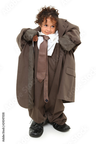 Baggy Suit Girl Canvas Print