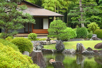 Fototapeta Do sushi baru Beau jardin japonais