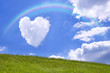 Leinwandbild Motiv ハートの雲