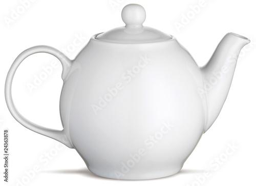 Cuadros en Lienzo white china tea pot teapot on a white background