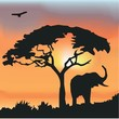 African Wildlife Background.