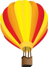 Stripy Hot Air Balloon