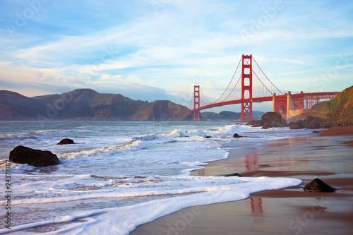 Keuken foto achterwand San Francisco Golden Gate Bridge at Sunset