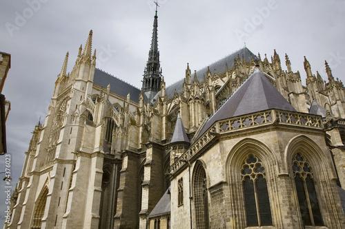 Papiers peints Con. ancienne france; amiens; cathédrâle : façade sud et sacristie