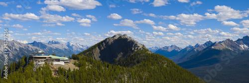 Spoed Foto op Canvas Gondolas Sulphur Mountain Panorama, Banff National Park, Alberta, Canada