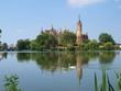 Schwerin emperor castle on the island