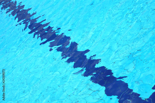 Ingelijste posters Kristallen Swimming pool, detail of water suitable for backgrounds