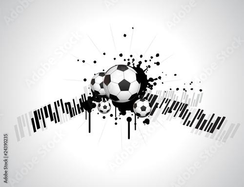 Plakat abstract football creative design