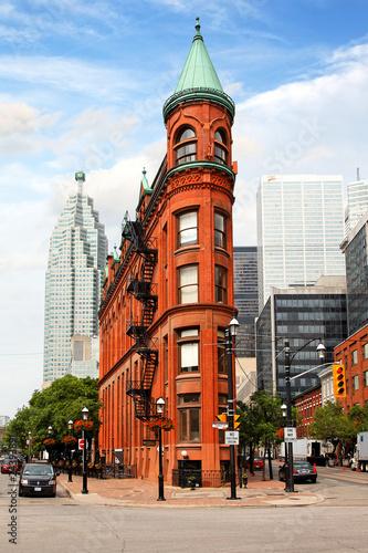 Deurstickers Toronto Flatiron Building in Toronto