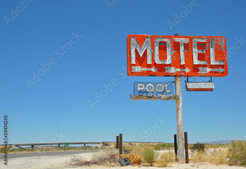 Wall Murals Route 66 Vintage Motel Sign